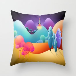 To The Moon Alice Throw Pillow