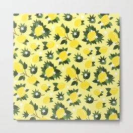 Summer Lemons - Cute Pattern Metal Print