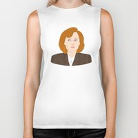 scully Biker Tanks featuring Dana Scully by Anna Valle