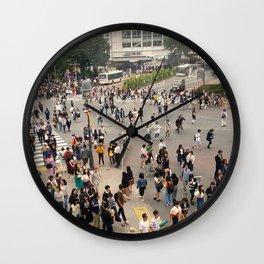 Vintage Shibuya - Shibuya Crossing Tokyo Japan Wall Clock
