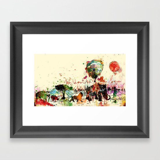 World as One : Human Kind Framed Art Print