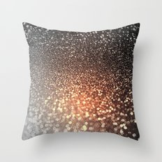 Tortilla brown Glitter effect - Sparkle and Glamour on #Society6 Throw Pillow