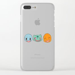 Red and Blue starters Clear iPhone Case