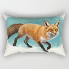 Fox walk Rectangular Pillow