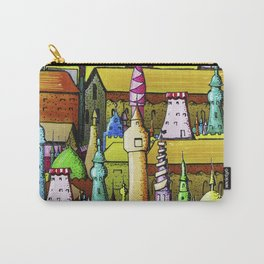 bright pattern of the houses Carry-All Pouch