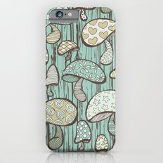 Wonderland Mushrooms - Blue iPhone 6s Slim Case