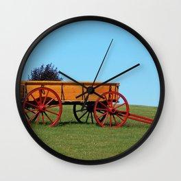 Wagon on a Hill Wall Clock