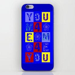 WORDSEARCH LOVE_U4MEME4U iPhone Skin