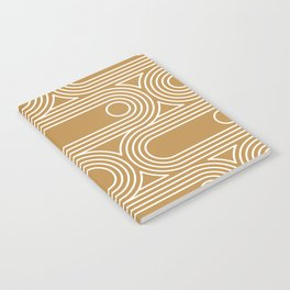 70s 80s Retro Cassette Line Art Notebook