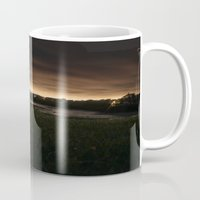 portland Mugs featuring Portland by Caren Lewis
