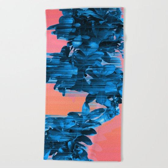 Velocious Blue Little Tree Beach Towel