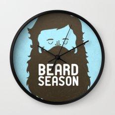 Beard Season Wall Clock