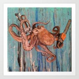 Armed Octopus Art Print