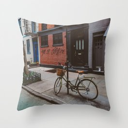 New York's West Village Throw Pillow