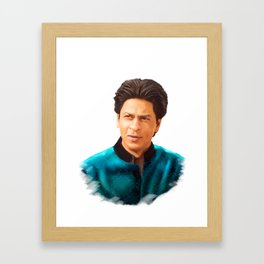 Shah Rukh Khan is a King of Bollywood, Digital Painting Framed Art Print
