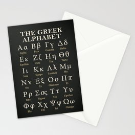 The Greek Alphabet Stationery Cards