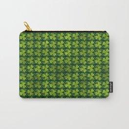 Irish Shamrock -Clover Green Glitter pattern Carry-All Pouch