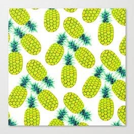 Pineapple Vibrant Yellow Canvas Print