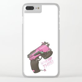 Nerf This! D.va Quote Poster, OW Clear iPhone Case