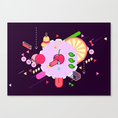 Tasty Visuals - Cherry Poppin' (No Grid) Canvas Print