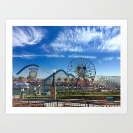California Adventure: Mickey's Fun Wheel Art Print