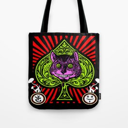 Psychedelic Cheshire Cat Tote Bag