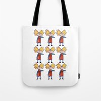 arnold Tote Bags featuring Hey Arnold! Pattern by Lozza.