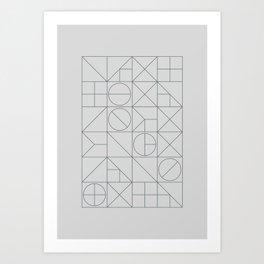Mid Century Geometric 03 Art Print