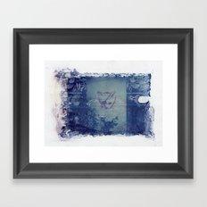 Here Kitty Kitty Polaroid Transfer Framed Art Print