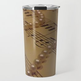 Music and a String of Pearls Travel Mug