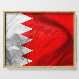 Bahrain Flag Serving Tray