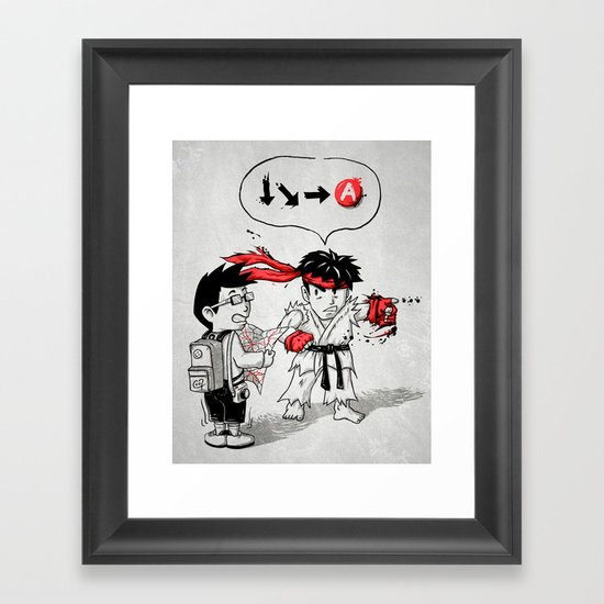 Hadoken? Framed Art Print