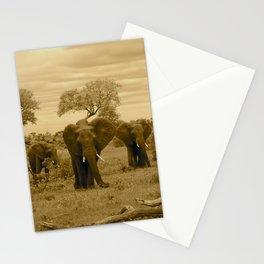 Elephant sepia Stationery Cards