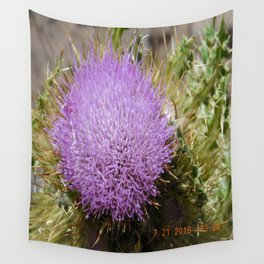 road trip, plant, nature, purple, plant top, pokey, sticker plant Wall Tapestry