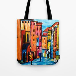 Afternoon Walk Downtown Tote Bag