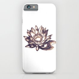 Lilly loto flower draw iPhone Case