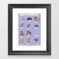 Language of cats Framed Art Print