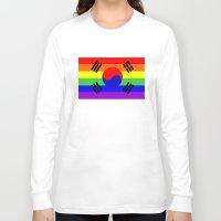 korea Long Sleeve T-shirts featuring south korea gay flag by tony tudor
