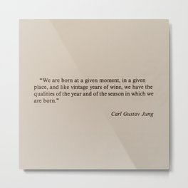 Carl Gustav Jung Metal Print