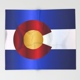 State Flag Of Colorado Throw Blanket