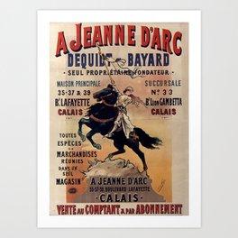 JEANNE D'ARC Dequidt Bayard - Calais 1898 Art Print