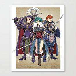 Blazing Sword Awakening Canvas Print