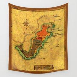 Map Mermaid Cabo de Gata Wall Tapestry