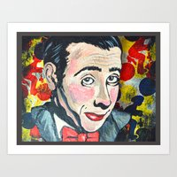 pee wee Art Prints featuring Pee Wee by Portraits on the Periphery