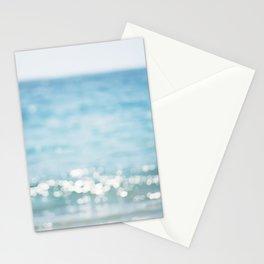 Beach Ocean Photography Art, Blue Coastal Photo, Aqua Seascape Photograph, Waves Art Stationery Cards
