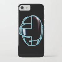 daft punk iPhone & iPod Cases featuring Daft Punk by Jason Michael