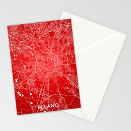 Milano map Stationery Cards