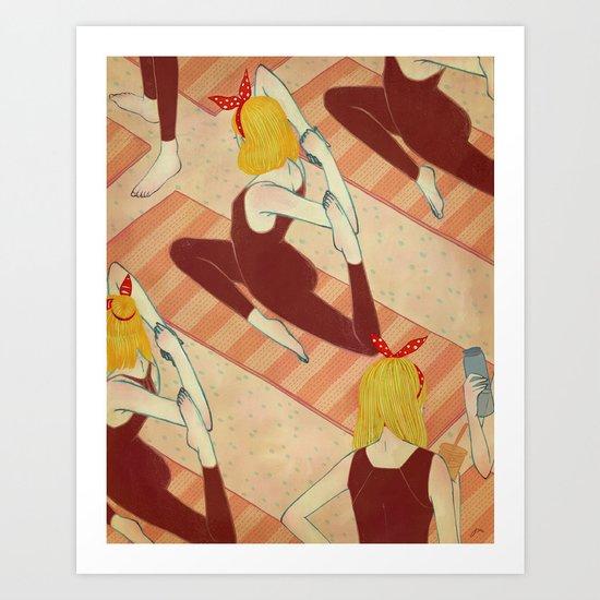 yoga girls Art Print