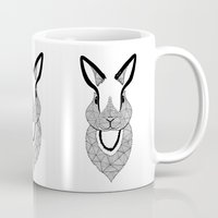 rabbit Mugs featuring Rabbit by Art & Be