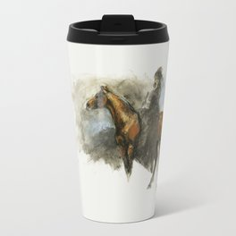 Amazon with her horse Travel Mug